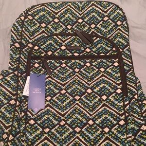 Vera Bradley Campus Tech Backpack: Rainforest NWT